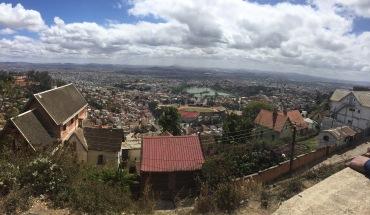 The city of Antananarivo in Madagascar.