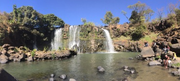 Waterfall Chute de Lilly in Madagascar.