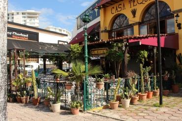A little restaurant in Cancun.
