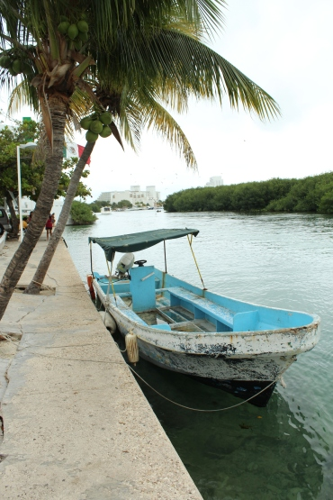 A quaint little boat on the river in Mexico.